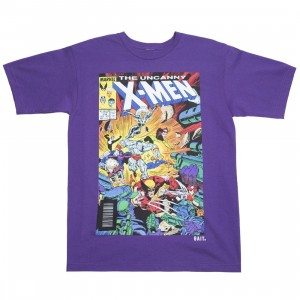 BAIT x Marvel Men The Uncanny X-MEN Tee (purple)