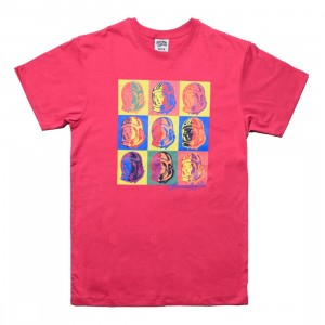 Billionaire Boys Club Men Pops Tee (pink / carmine)