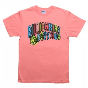 Billionaire Boys Club Men Off Registration Tee (pink / strawberry ice)
