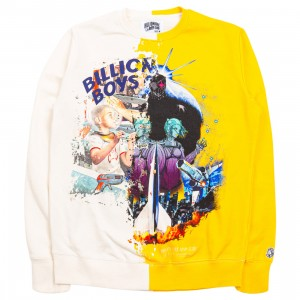 Billionaire Boys Club Men Split Crew Sweater (white / yellow)