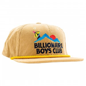Billionaire Boys Club Scenery Snapback Cap (brown / croissant)
