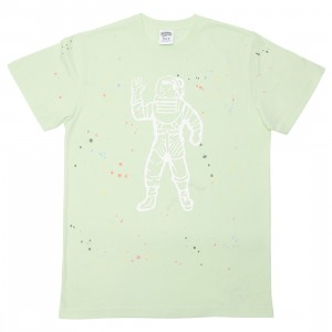 Billionaire Boys Club Men Astro Splattered Knit Tee (green)