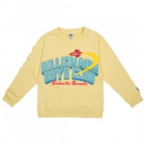 Billionaire Boys Club Little Kids Honor Crew Sweater (yellow)