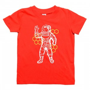 Billionaire Boys Club Little Kids Beekeeper Tee (red / flame)