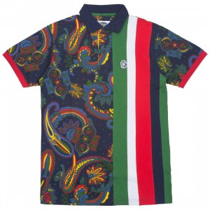 Billionaire Boys Club Men Banks SS Polo Shirt (multi / peacoat)