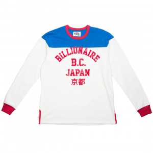 Billionaire Boys Club Men Motorclub Long Sleeve Knit Tee (white)