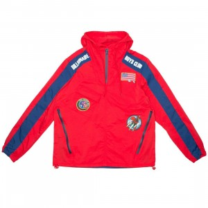 Billionaire Boys Club Men BB Tech Jacket (red)