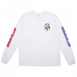 Billionaire Boys Club Men Island Long Sleeve Tee (white)