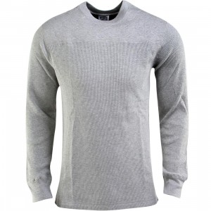 Billionaire Boys Club Quilted Crewneck (gray / heather gray)