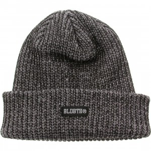 Bloodbath Label Knit Beanie (gray)