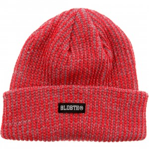 Bloodbath Label Knit Beanie (red)
