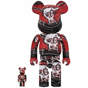 PREORDER - Medicom Jean-Michel Basquiat #5 100% 400% Bearbrick Figure Set (red)