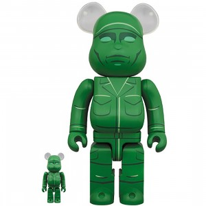 PREORDER - Medicom Toy Story Green Army Men 100% 400% Bearbrick Figure Set (green)