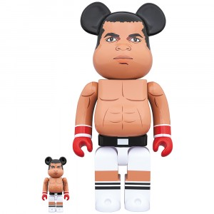 PREORDER - Medicom Muhammad Ali 100% 400% Bearbrick Figure Set (brown)