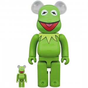 PREORDER - Medicom Meet the Muppets Kermit The Frog 100% 400% Bearbrick Figure Set (green)
