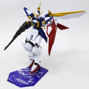 Bandai Gundam Universe XXXG-01W Wing Gundam Figure With Special Stage Stand (navy)
