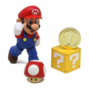Bandai S.H.Figuarts Super Mario Brothers Mario - New Package Version Figure (red)