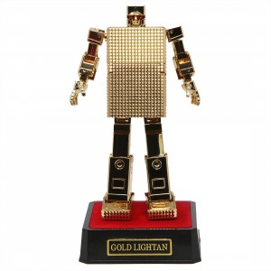 Bandai Soul Of Chogokin Gold Lightan GX-32R Gold Lightan 24-Karat Gold Plating Version Figure (gold)