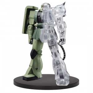 PREORDER - Banpresto Mobile Suit Gundam Internal Structure MS-06F Zaku II Ver. A Figure (green / clear)