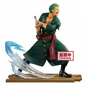 PREORDER - Banpresto One Piece Log File Selection Fight Vol. 1 Roronoa Zoro Figure (green)