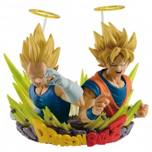PREORDER - Banpresto Dragon Ball Z Com Figuration Gogeta Vol. 2 Son Goku And Vegeta Figure (yellow)