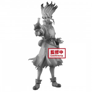 PREORDER - Banpresto Dr. Stone Figure Of Stone World Senku Ishigami Figure (gray)