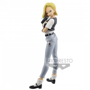 PREORDER - Banpresto Dragon Ball Z Glitter And Glamours Android No. 18 III Figure - Ver B (gray)