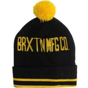 Brixton Quinn Beanie (black / yellow)
