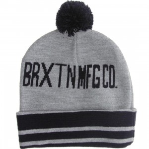 Brixton Quinn Beanie (heather grey / navy)