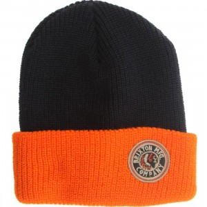 Brixton Saint Beanie (navy / orange)