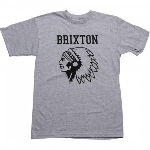 Brixton Anthem Tee (heather grey)