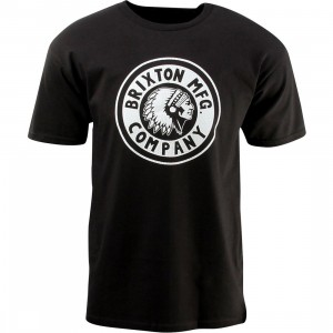 Brixton Rival Short Sleeve Standard Tee (black / washed black)