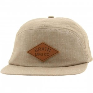 Brixton Wharf Adjustable Cap (taupe herringbone)
