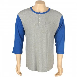 Brixton Detroit Raglan Tee (royal / heather grey)