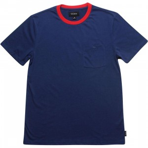 Brixton Fraction Pocket Knit Tee (navy)