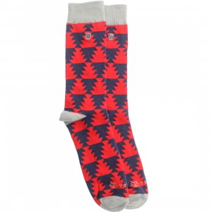Brixton Morocco Sock (red / navy) 1S