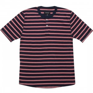 Brixton Lewis Tee (navy / red / white)