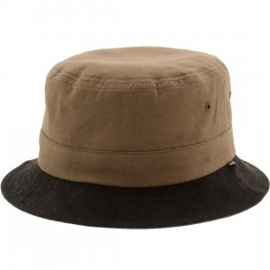 Brixton Tull Bucket Hat (brown / navy)