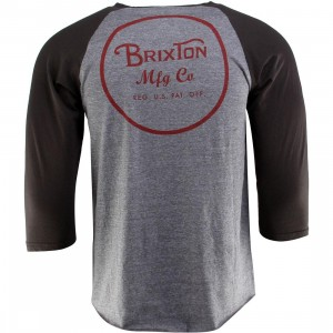 Brixton Wheeler Raglan Tee (gray / heather gray)