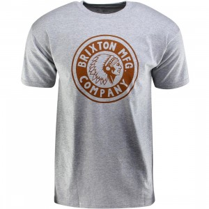 Brixton Rival Short Sleeve Standard Tee (gray / heather gray)