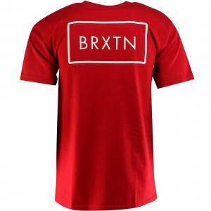 Brixton Rift Short Sleeve Standard Tee (red)