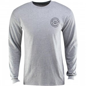 Brixton Oath Long Sleeve Standard Tee (gray / heather gray)