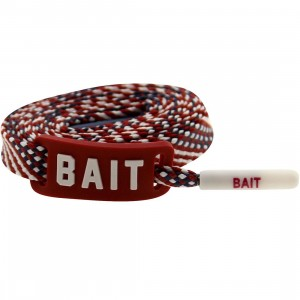 BAIT USA Flag Flat Shoelaces (red)