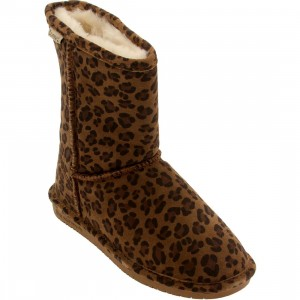 Bearpaw Women Emma Short Boot (brown / hickory leopard)
