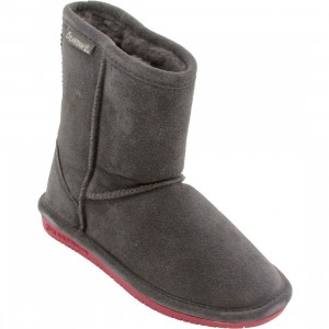 Bearpaw Big Kids Emma Youth Boot (gray / charcoal / pomberry)