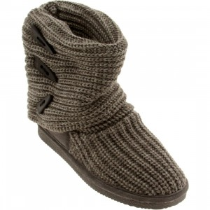 Bearpaw Women Knit Tall Boot (gray)