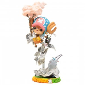 Banpresto One Piece Collaboration Figure Tony Tony Chopper Challenge From Greeeen Figure (pink)