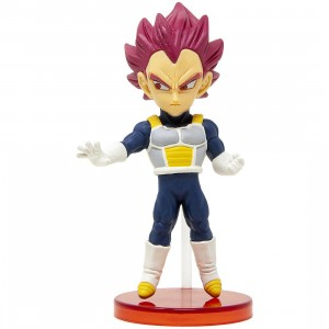 Banpresto Dragon Ball Super Broly Movie World Collectable Figure Vol 1 - 02 Super Saiyan God Vegeta (pink)