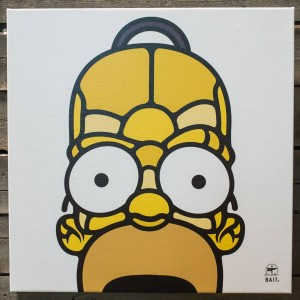 BAIT x David Flores 36 Inch Canvas - Homer 3/4 (yellow)