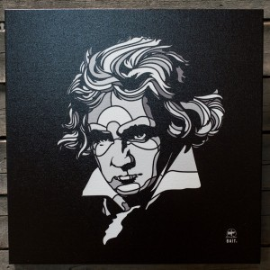 BAIT x David Flores 24 Inch Canvas - Beethoven (black / white)